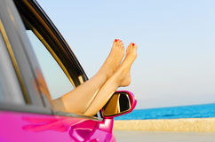 Travel vacation freedom beach concept Stock Images