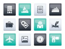 Travel, vacation and holidays icons over color background. Vector icon set vector illustration