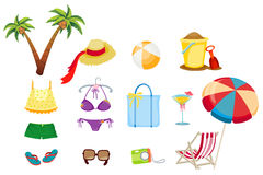 Travel and vacation icons Stock Photos