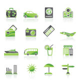 Travel and vacation icons. Vector icon set Royalty Free Stock Photos