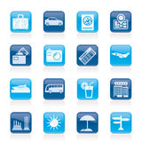 Travel and vacation icons. Vector icon set Royalty Free Stock Images
