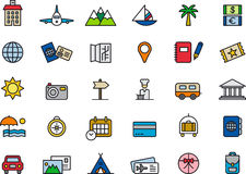 Travel and vacation icons Royalty Free Stock Photography