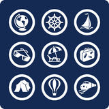 Travel and Vacation icons (set 13, part 1) Stock Image