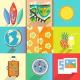 Travel and vacation icons set Royalty Free Stock Photos