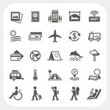 Travel and Vacation icons set Stock Image