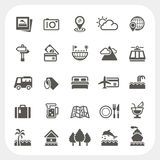 Travel and Vacation icons set. EPS10, Don't use transparency Stock Images