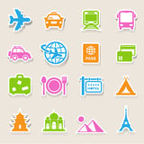 Travel and vacation Icons set Royalty Free Stock Photography