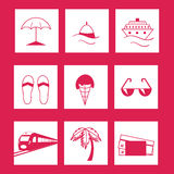 Travel and vacation Icons set . Stock Photography