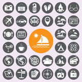 Travel and vacation icons set.vector/eps10. Royalty Free Stock Image