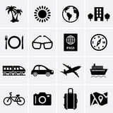 Travel and Vacation Icons. Vector Stock Photography