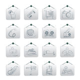 Travel and vacation icons. Vector icon set Royalty Free Stock Image