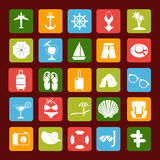 Travel and Vacation  icons Royalty Free Stock Photo