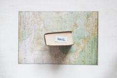Travel and Vacation idea, text and map created by Claude Bernou, published in 1681. Stock Photography