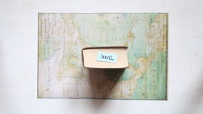 Travel and Vacation idea, text and map created by Claude Bernou, published in 1681. Travel text and map created by Claude Bernou, published in 1681. Art stock footage