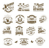Travel and vacation labels. Royalty Free Stock Photo
