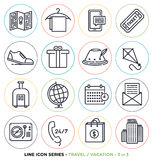 Travel and vacation line icons set Royalty Free Stock Image