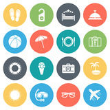 Travel and Vacation Minimal Icon Set Royalty Free Stock Photography