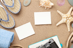 Travel and vacation photo frames and items Royalty Free Stock Photos