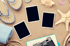 Travel and vacation photo frames and items Stock Photography