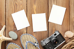 Travel and vacation photo frames and items Royalty Free Stock Photography
