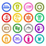 Travel, Vacation & Recreation, icons set Royalty Free Stock Photo