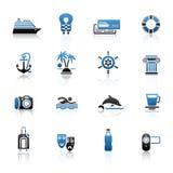 Travel, Vacation & Recreation, icons set. Royalty Free Stock Image