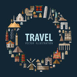 Travel. vacation a set of colored icons Royalty Free Stock Photo