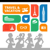Travel and vacation shopping background Stock Photo