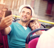 Travel, vacation, summer, family and people concept Stock Images
