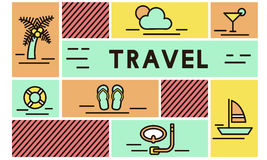 Travel Vacation Sunshine Relaxation Holiday Concept royalty free illustration