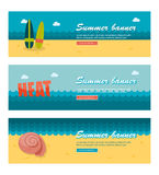 Travel and vacation vector banners Stock Image
