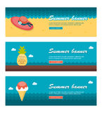 Travel and vacation vector banners Royalty Free Stock Images