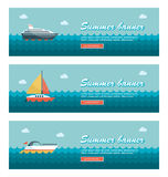 Travel and vacation vector banners Royalty Free Stock Photo