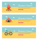 Travel and vacation vector banners Royalty Free Stock Photos
