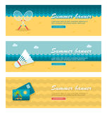 Travel and vacation vector banners Royalty Free Stock Photography