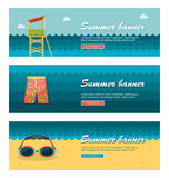 Travel and vacation vector banners Stock Photography