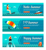 Travel and vacation vector banners Stock Photo