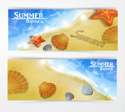 Travel and vacation vector banners Royalty Free Stock Image