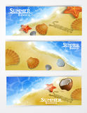 Travel and vacation vector banners Stock Photos