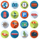 Travel and vacation vector icons Royalty Free Stock Photo