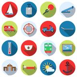 Travel and vacation vector icons Royalty Free Stock Photos