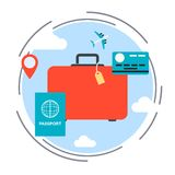 Travel, vacation, voyage vector concept Royalty Free Stock Photos