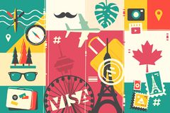 Travel and vacations Royalty Free Stock Images