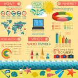 Travel. Vacations. Beach resort infographics. Elements for creat Stock Photo
