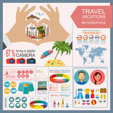 Travel. Vacations. Beach resort infographics. Elements for creat Royalty Free Stock Photos