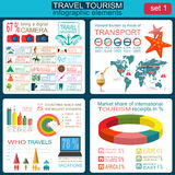 Travel. Vacations. Beach resort infographics. Elements for creat Stock Image