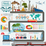Travel. Vacations. Beach resort infographics. Elements for creat Royalty Free Stock Image