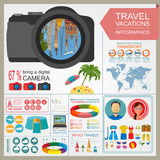 Travel. Vacations. Beach resort infographics. Elements for creat Stock Images