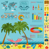 Travel. Vacations. Beach resort infographics. Elements for creat Royalty Free Stock Images