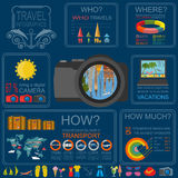 Travel. Vacations. Beach resort infographics. Elements for creat Stock Photography